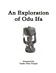 An Exploration of Odu Ifa