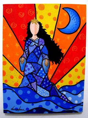 "Titled: ""YEMANJA"" by ROMERO BRITTO (Brazil)"